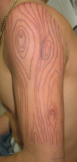 wood grain line work photo 2 the ink captain 39 s tattorium